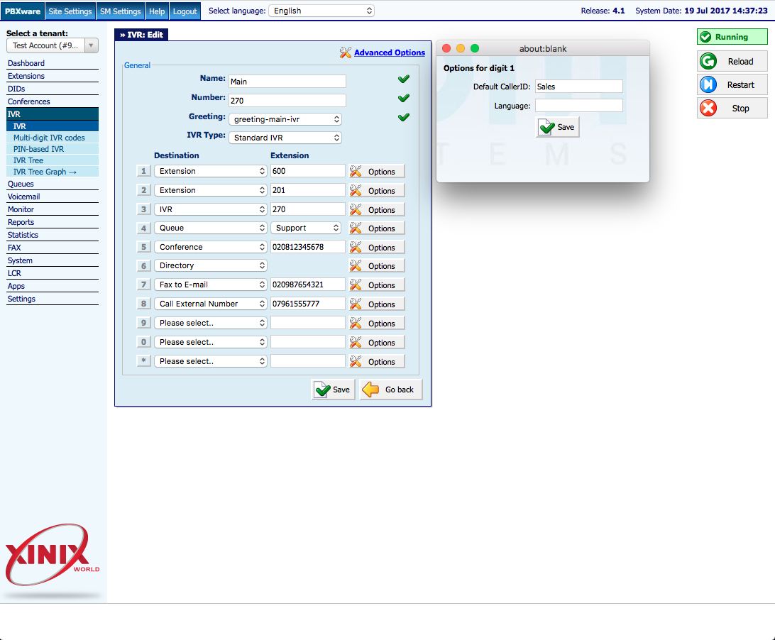 Virtual Receptionist (IVR)