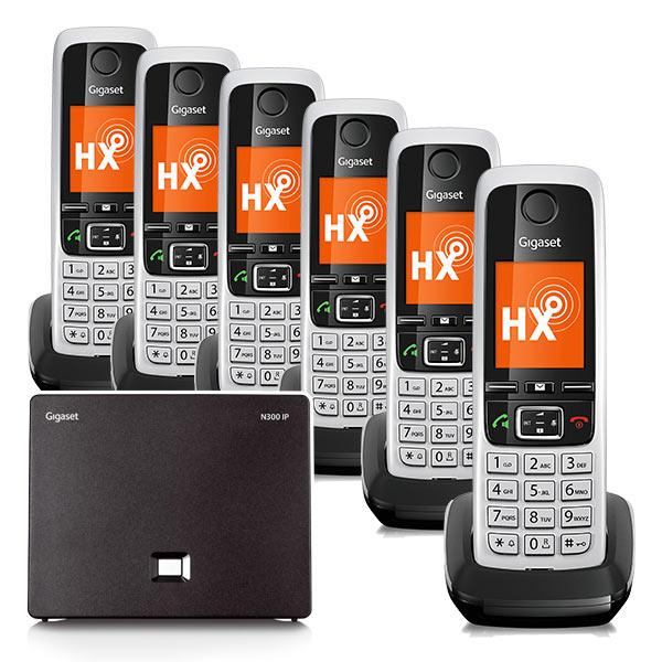 Gigaset N300IP & C430HX Six Handset Bundle